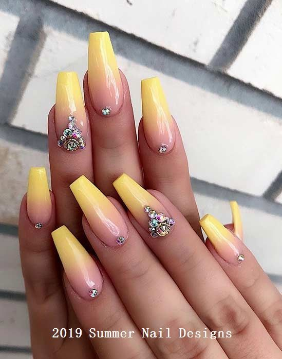 33 Cute Summer Nail Design Ideas 2019 Summernails Naildesigns