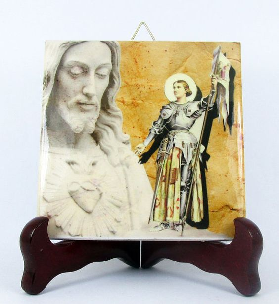 Saint Joan of Arc Ceramic Tile from Italy St. by TerryTiles2014