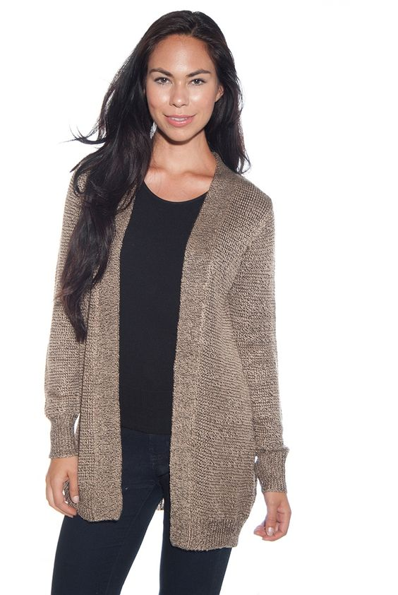 Top Ten Hit Knit Cardigan Sweater - Taupe from My Bajee Collection ...