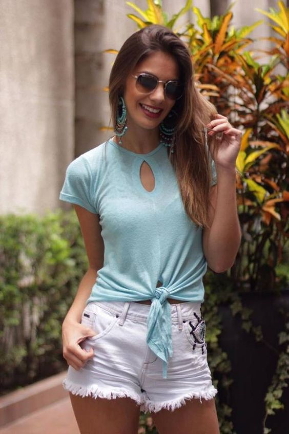 Blusa Podrinha Nozinho Azul Villon JU8972 #blusapodrinha #podrinha #golagota