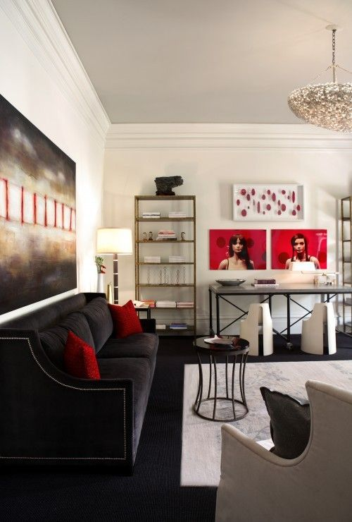 Red Black And White Living Room Decor Part - 29: Black Living Room | Red And Black Living Room Ideas Be A Fantastic Show |  Home Design ... | Home Sweet Home: Living/Den/Entry | Pinterest | Living  Room Red, ...