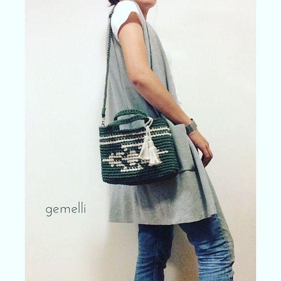 先日販売した #ネイティブトート 裏地、ショルダー付きでご購入いただきました! ありがとうございました😊💓 . . #gemelli#gemellibag #ネイティヴ#ネイティブ#オルテガ