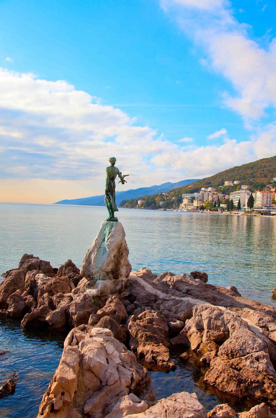Fashionable Seaside resort of Opatija, Croatia.