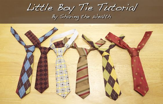 Sharing the Wealth: Little Boy Tie Tutorial Made one of these for Brantley for Easter.  So easy and cheap!