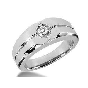0.55 Karat Herren Diamantring aus 585er Weißgold
