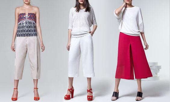 As calças que vamos usar no verão 2014/2015 - pantacourt