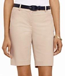 """Talbots - 11"""" Twill Shorts - Clay"""