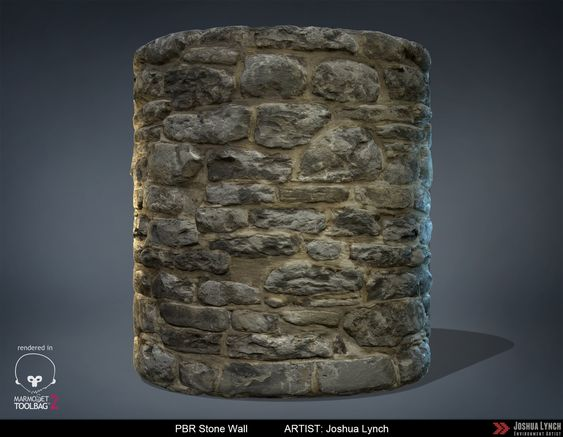 ArtStation - PBR Stone Wall, Joshua Lynch