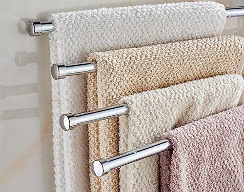 Bath Shower Wall Mounted Stainless Steel Towel Rack Storage Holder Towel Rack Bathroom Towel Bar Towel Rack Bathroom