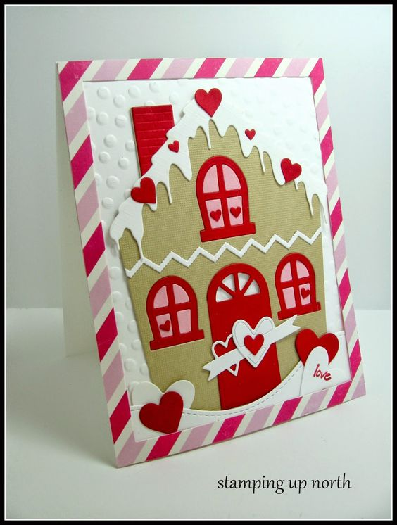 stamping up north with laurie: Valentine houses