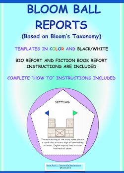 Book Report Project: Bloom's Taxonomy Poster Project | My ...