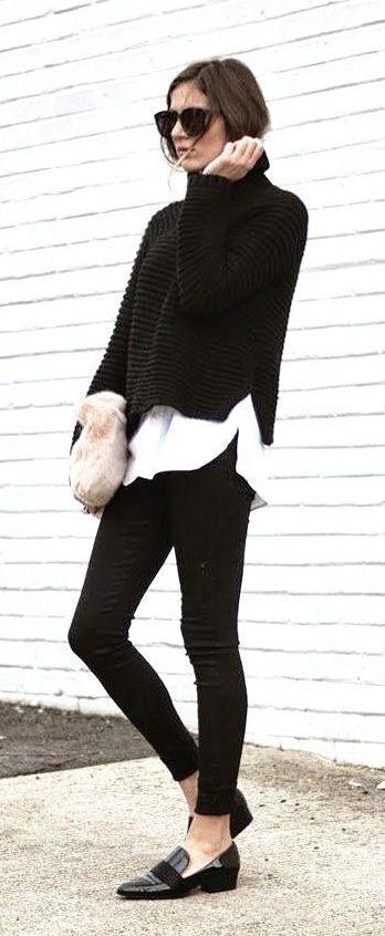 #fall #fashion / black sweater