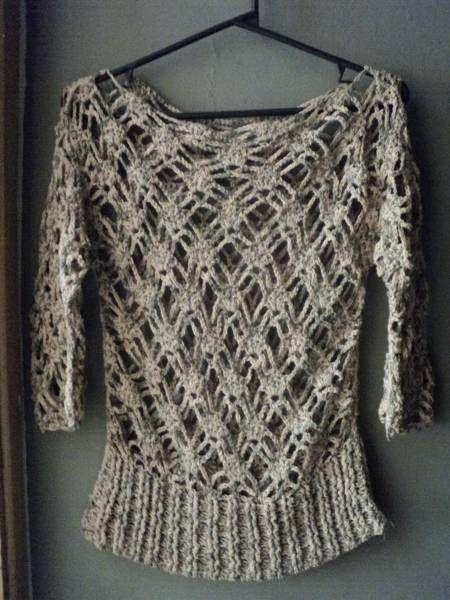 Fotos de Encantador conjunto de Túnica y Cartera en crochet: Point, Blouse Con, Teji2 Primavera Verano, Set, Crochet, Portfolio