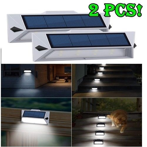 2 Lamparas Solar Luces Solares Grande Para Exteriores Inalambricas Led Luz Pared Hkyh Solar Lights Outdoor Wall Lights Wall Lights