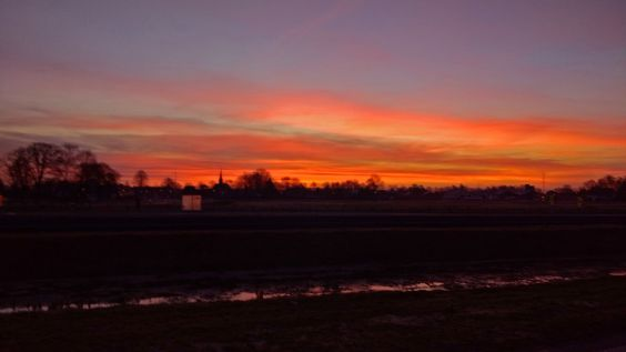 Le Photiste posted a photo:  Goodmorning Donkerbroek ... ☺☺☺!  A beautiful sunrise this morning at Donkerbroek, Fryslân - The Netherlands