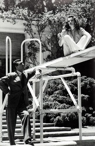 The philadelphia story katharine hepburn and cary grant for Cary grant first movie