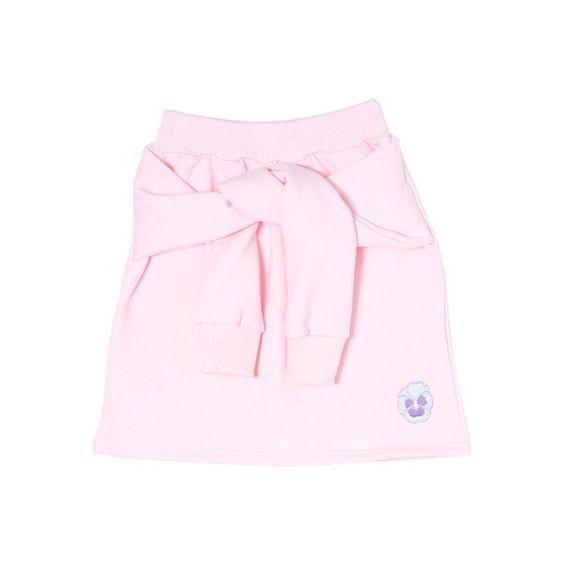 腰巻き風スウェットスカート ❤ liked on Polyvore featuring skirts and bottoms