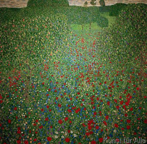 Gustav Klimt - Gustav Klimt, Mohnwiese:
