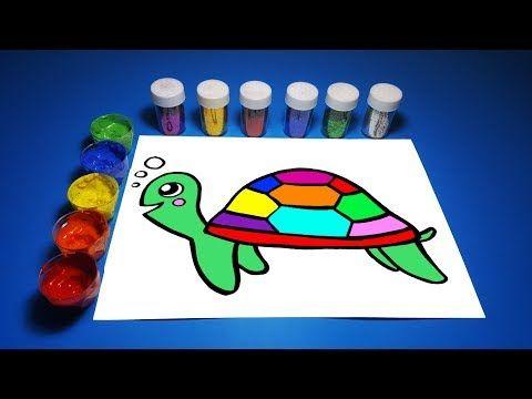 Glitter Rainbow Turtle Learn Coloring And Drawing For Kids Poco Loco Kids Youtube Drawing For Kids Drawings Kids