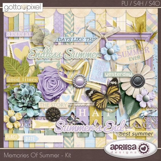 Memories Of Summer - Digital Scrapbook Kit at Gotta Pixel. www.gottapixel.net/