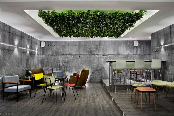 High Quality Greenery Cafe Interior Design Seating   Google Search | Architecture  Details | Pinterest | Concrete Walls, Concrete And Walls Images