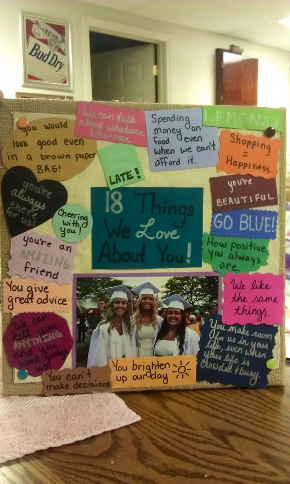 Me and my best friend made this for our best friends 18th for Simple gifts to make for friends
