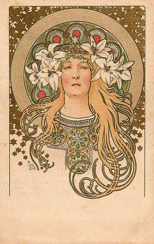 Mucha- Carte postale