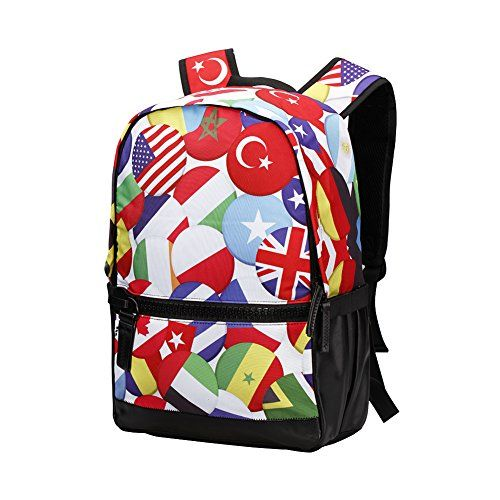 Coolest Unique Fashion Nations Flag Print Backpack 20L Waterproof Durable Daypack MultiPocket fits iPad tablets and 156 Laptop Travel Casual School Sports Outdoor shoulder bag *** See this great product.