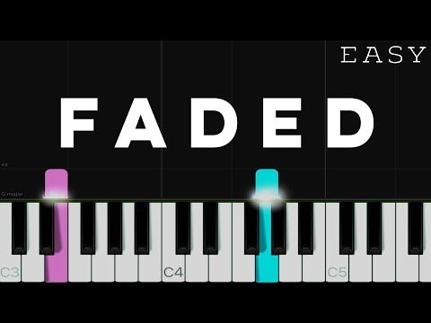 Alan Walker Faded Easy Piano Tutorial Youtube In 2020