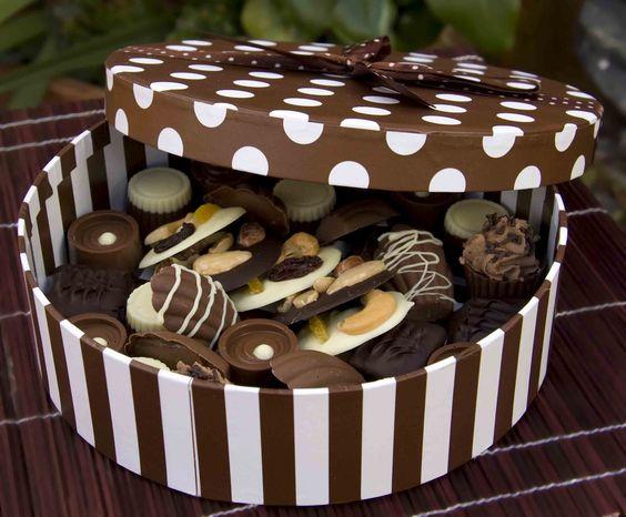 Como hacer cajas para chocolates - Imagui