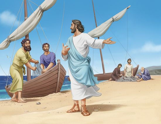 Image result for JESUS CALLS THE FISHERMEN