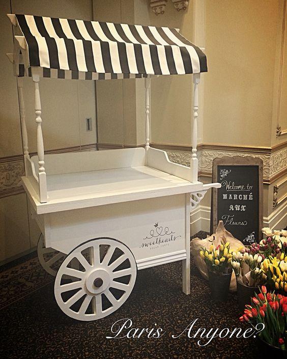 Paris themed cart
