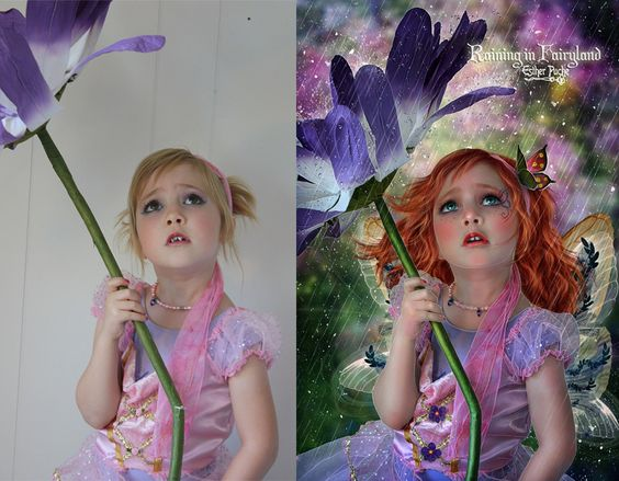 #artilike  Wonderful Photo Manipulation!  http://estherpuche-art.deviantart.com/art/Raining-in-Fairyland-BA-412511838