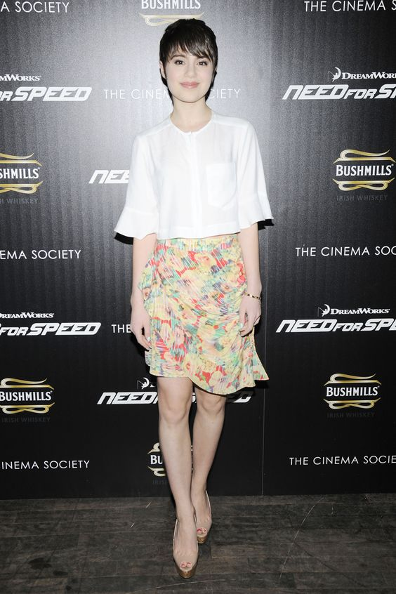 Sami Gayle wears a Nanette Lepore top and skirt paired with Christian Louboutin shoes // #Fashion #Style #Celebrity