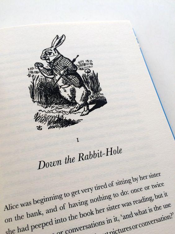 Follow this little guy through Wonderland // Inside //  Alice's Adventures in Wonderland // Lewis Carroll //
