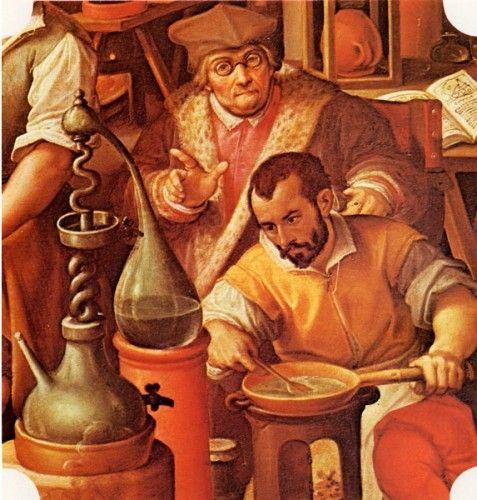 Jan van der Straet (1523-1605). Francesco I nel suo laboratorio alchemico (Florence)
