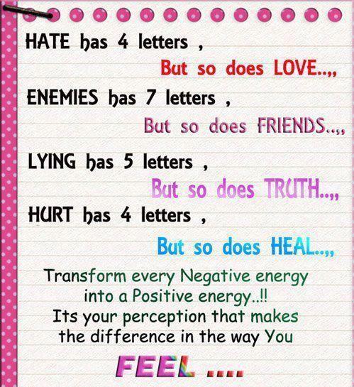 turning negative into positive