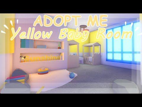 Yellow Baby Room ~ Adopt Me Build Hacks 🍼 - YouTube | Yellow Baby Room, Baby Room, Baby Room Design
