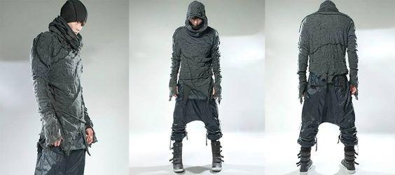 Demobaza. Post-apocalypse clothing / fashion / post-apocalyptic wear / male / dystopian / menswear / men's / style / looks