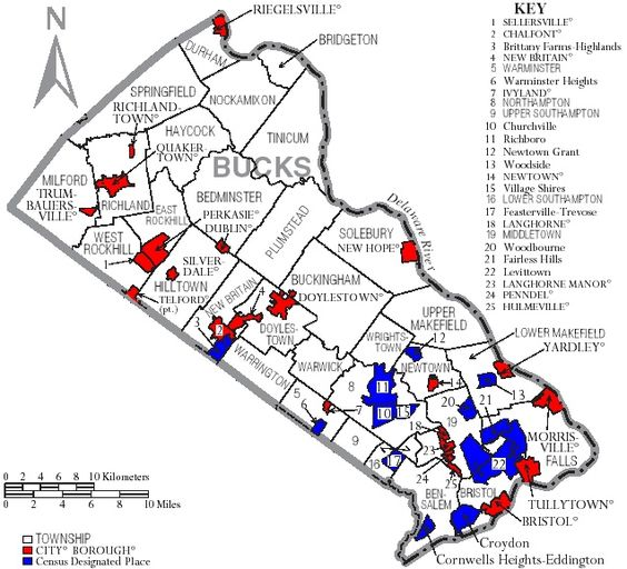 Bucks County Pa Road Map Township map of Bucks County Pa – Road Map Wikipedia