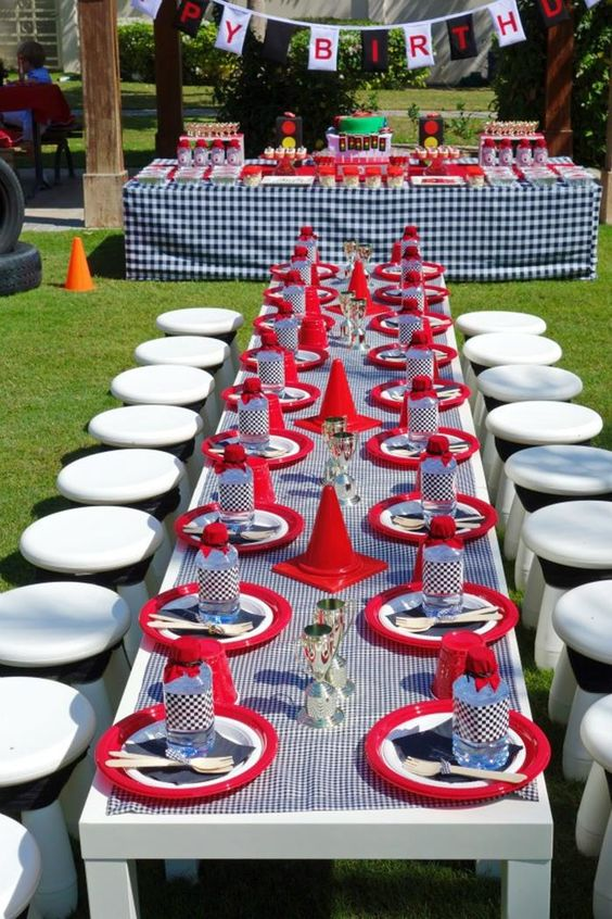 Lightning McQueen Race Car Party with Full of Awesome Ideas via Kara's Party Ideas | KarasPartyIdeas.com #LightningMcQueenParty #DisneyCarsP...