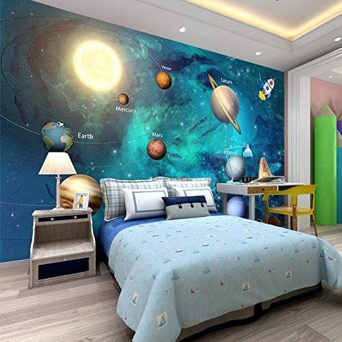 3d Galaxy Star Theme Wallpaper Children S Room Bedside Wallpaper Boy Bedroom Background Wa Wallpaper Childrens Room Boys Bedroom Wallpaper Space Themed Bedroom