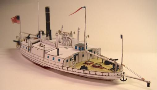 Paddle Steam Ferry Commodore Perry Paper Model - by Magnus Morck - via Models`n`Moore   ===   Thanks to Models`n`Moore`s work of preservation, We can know and share the work of talented Swedish modeler, now deceased, Magnus Morck.