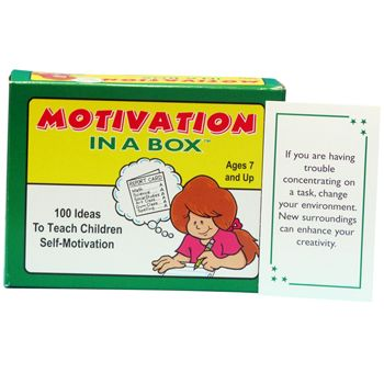 Motivation In A Box Card Game: gives adults daily ideas on how to motivate children in the home, classroom, or counseling office. $21.95