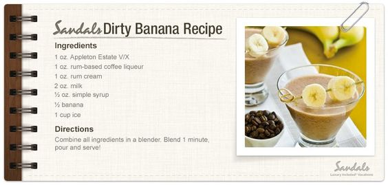 Dirty Banana Drink Recipe Sandals