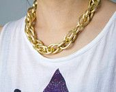 EXTRA Large LUX Gold Link Chain Necklace. $25.00, via Etsy.