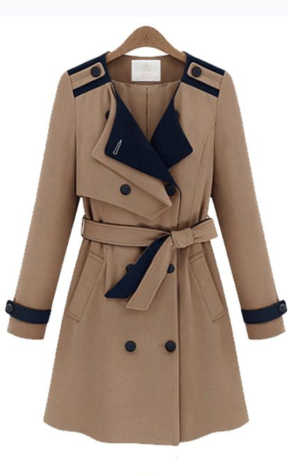 Cute Cheap Double breasted windcoat - Coat Online Shopping Free Shipping 35632306650