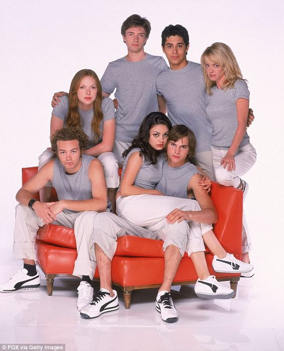 On and off: She admitted that there was a time at the height of Ashton's fame (likely after That '70s Show, pictured in an early promotional image) that she didn't really like him
