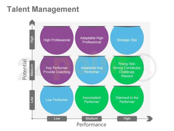 Talent Management 9 Box Performance Potential Matrix Planificacion Estrategica Rr Hh Mentalidad