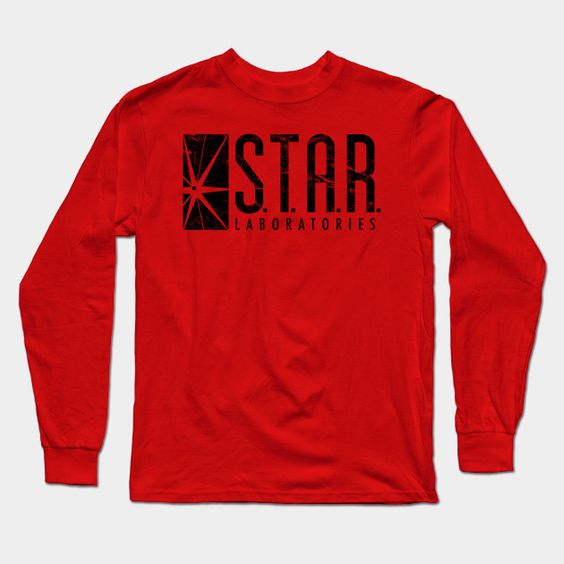 Star Labs Distressed Long Sleeve T-Shirt
